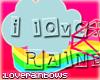 i love rainbows|sticker|