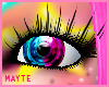 blue/pink colores eye