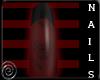 B~Red/Black Skully Nails