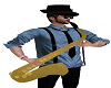 Animated saxophone