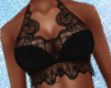 Black Lace Halter
