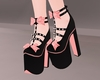 Bow High Heels - Peach