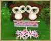 ~H~Valentine Owl Lt Grn