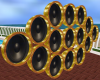 Gold Animated Speakers