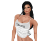 White Cropped Top Trance
