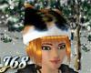 J68 Calico Cat Hat Red