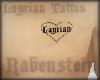 Layrian Heart tattoo