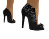 Black rose heels