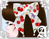 Cherry Ribbon Clip~White