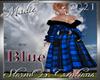 !a Tartan Coat Blue