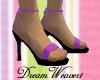 Purple Lace-Up Sandals