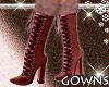 Fur boots . burgundy