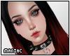 *P Goth Red/Black Dahlia