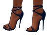Reina Dark Blue Heels
