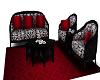 Black/White Couture Sofa