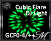 Green Cubic Flare Light