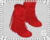 G l Red Fringe Boots