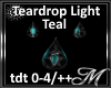 Teal Teardrop Light-Req