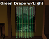 Green Drape w/Light