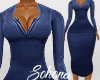 ṩNina Dress rll Blue