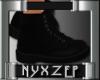 DM Black Biker Boot (F)