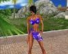 Blue Bikini + Paréo
