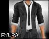 Wool Coat Shirt Tie v4