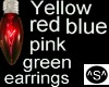 ^S^HotPink Bulb Earrings