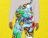 graffiti jumpsuit
