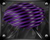 {A} Purple PVC Lolli