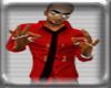 *K* Men Shirt w/ Tie Red