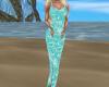 beach teal seashell