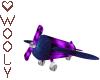 Toy plane blue purple