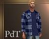 PdT Blue Plaid Shirt&T M