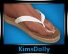 *KD* White Flip Flops