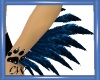 CW Arm Blue Feathers