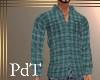PdT Green Plaid Shirt M