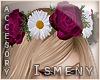 [Is] Wine Rose Headband