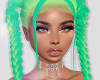 Aurora Green Gyal Hair