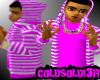 [LF] P+W Stripy Hoodie