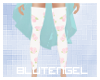 Pastel flower stockings