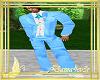 traje boda azul