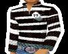 Stripey ZipTop-Blk&white