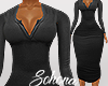 ṩNina Dress rl Black