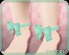 🍑 Ankle Bows | Mint
