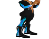 pvc blue flame boot