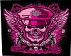 Pink harley Skull
