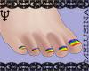 ♆ Pride Toes
