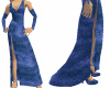 Blue Velvet Long Gown