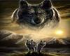 Wolf Fireplace